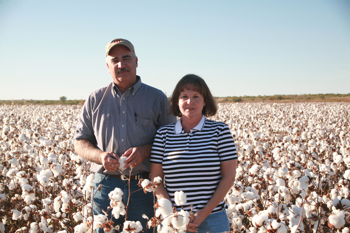 Native Color - The Oldhams Standing in Their Texas Cotton Field.jpg