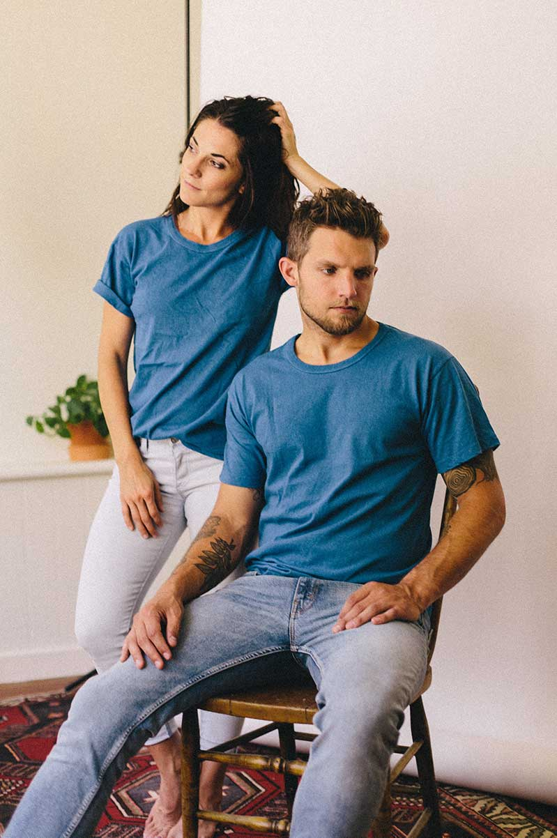 Organic cotton. Natural dyes. Nothing else. -