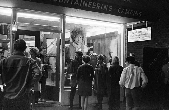 """What a collection of people. There were nattily dressed individuals rubbing shoulders with bearded, long-haired and sandal-clad beatniks from the neighborhood."" - The San Francisco Examiner, October 1966, reporting on opening night of The North Face store in North Beach, San Francisco. The local beatniks were lined up to watch The Grateful Dead and Joan Baez perform next to ski equipment in the 1,000 sq ft space, while the Hell's Angels were hired as security to make sure the sailors that spilled over from the legendary Condor Club next door didn't get too rowdy.⠀ ⠀ #NativeColor #WearNatural ⠀ .⠀⠀⠀ .⠀⠀⠀ .⠀⠀⠀ .⠀⠀⠀ .⠀⠀⠀ #NaturalDyes #Handmade #AllNatural #NaturalClothing #Biodegradable #Sustainable #SustainableStyle #EcoFashion #GreenFashion #SustainableFashion #SustainableLiving #SustainablyChic #MadeInAustin #MadeInTexas #MadeInUSA #NorthFace #TheNorthFace #GratefulDead #SanFrancisco #NorthBeach #DouglasTompkins #DougTompkins #FBF"
