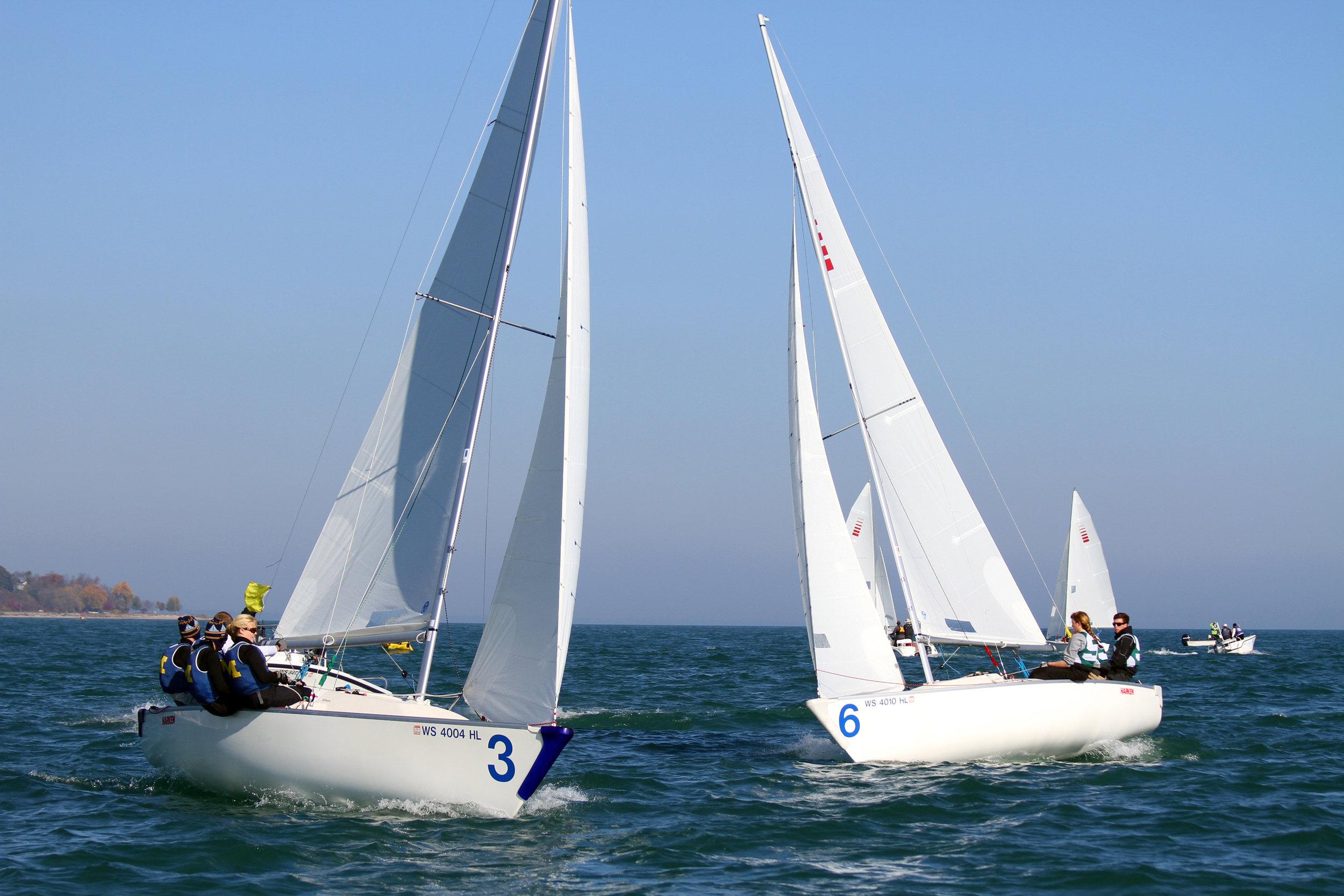 types of sailboat racing winter ed series seas