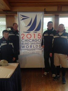 """SEAS Adaptive Sailing Team"" Jackets have arrived and the team models them at the event!"