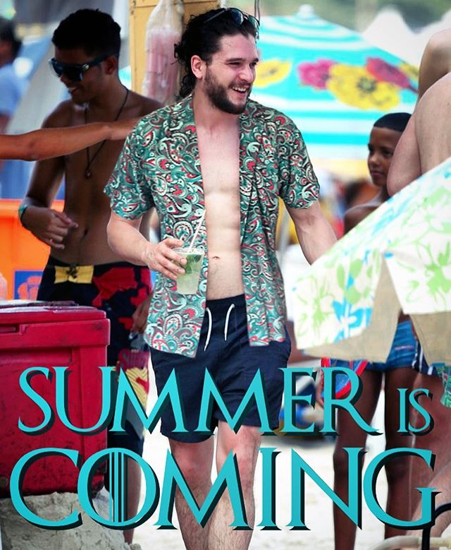 Summer is coming -- are you prepared? Get the ultimate summer gear, only on Kickstarter. LINK IN BIO. #showyourfeathers #peacock #summer #sun #fun #beach #gameofthrones #jonsnow #winteriscoming #fashion #mensfashion #apparel #shirt #pool #party #poolparty