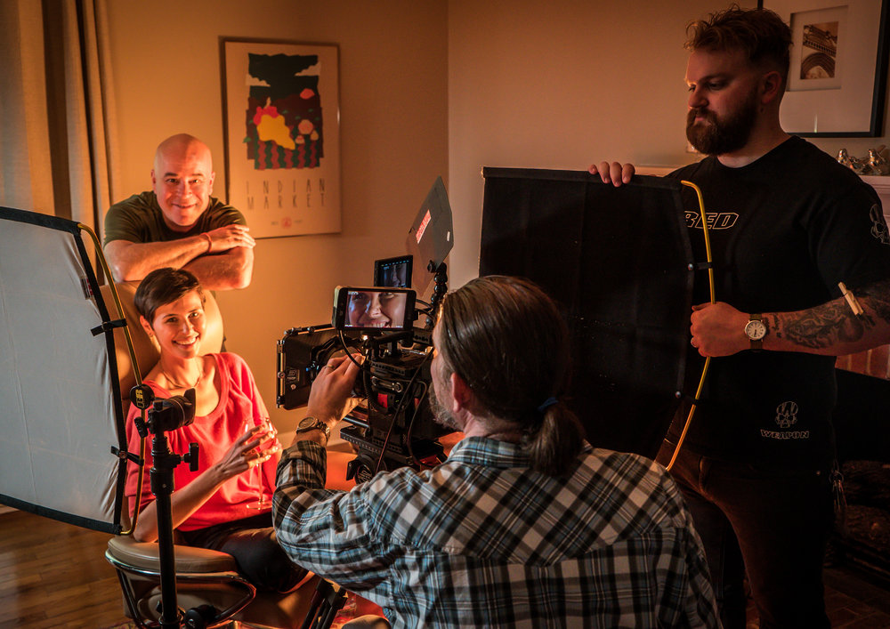 In April, 2018, I was invited to work on a pitch for the Norwegian furniture company, Stressless through the Tombras agency in Knoxville. Here, I'm directing the film shoot.
