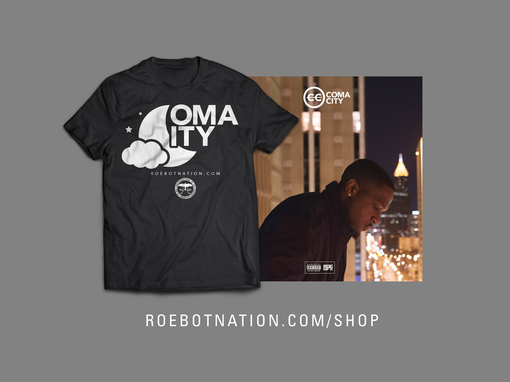 The RoeBotNation Online Shop is officially open for business. Purchase your Coma City T-Shirts as well as your hard copy of Coma City today!    CLICK HERE TO SHOP