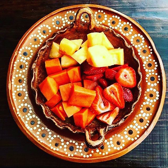 A delicious fruit bowl at our café in San Miguel de Allende #kibok #sma #fruit