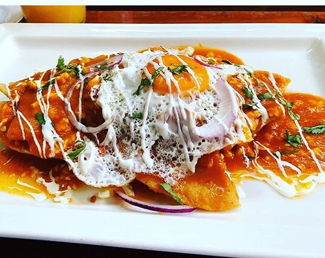 Serving up some delicious breakfast . Come try our chilaquiles 😋 p.c. @kan.tulum