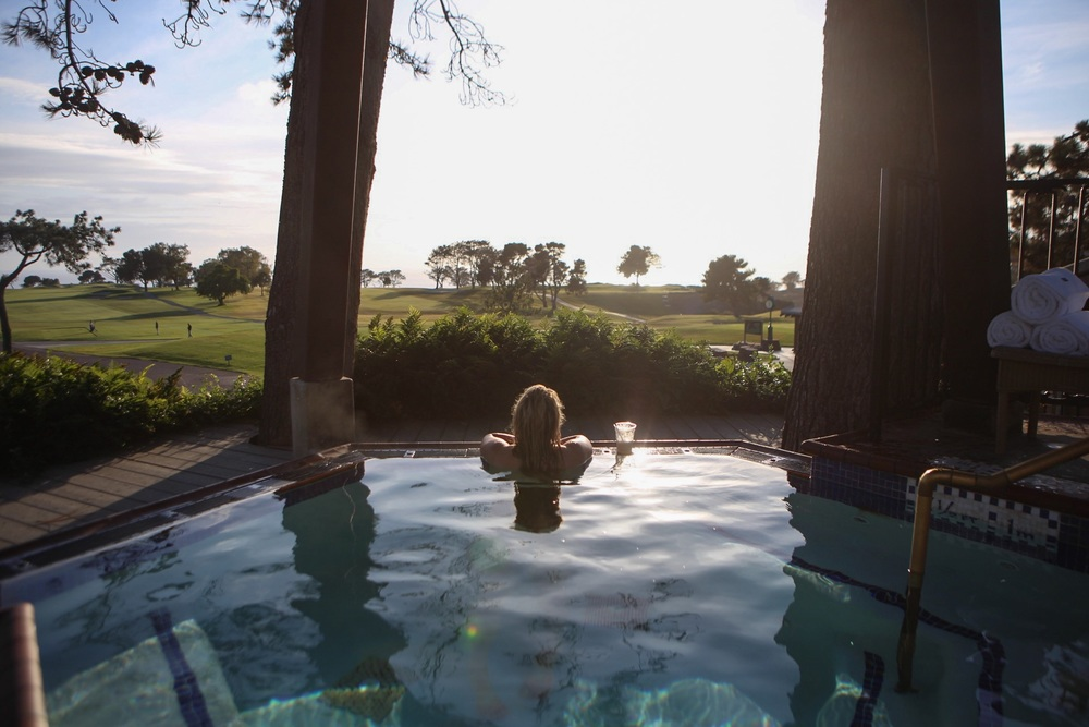 A hot tub with a view. Overlook the ocean and relax at The Lodge at Torrey Pines.