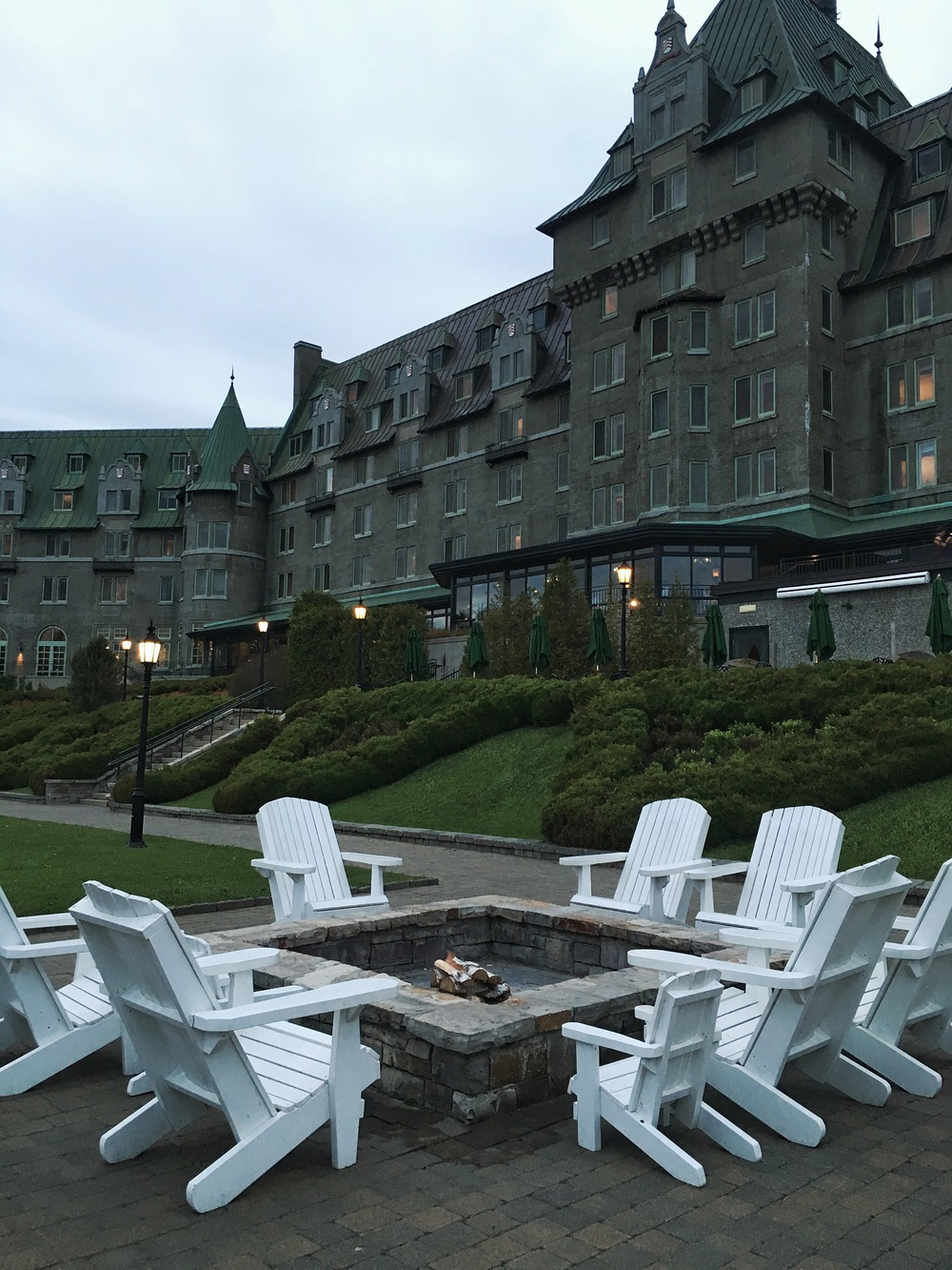 The Fire Pit at Fairmont Le Manior Richelieu.