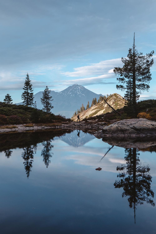 Mount Shasta at Heart Lake.