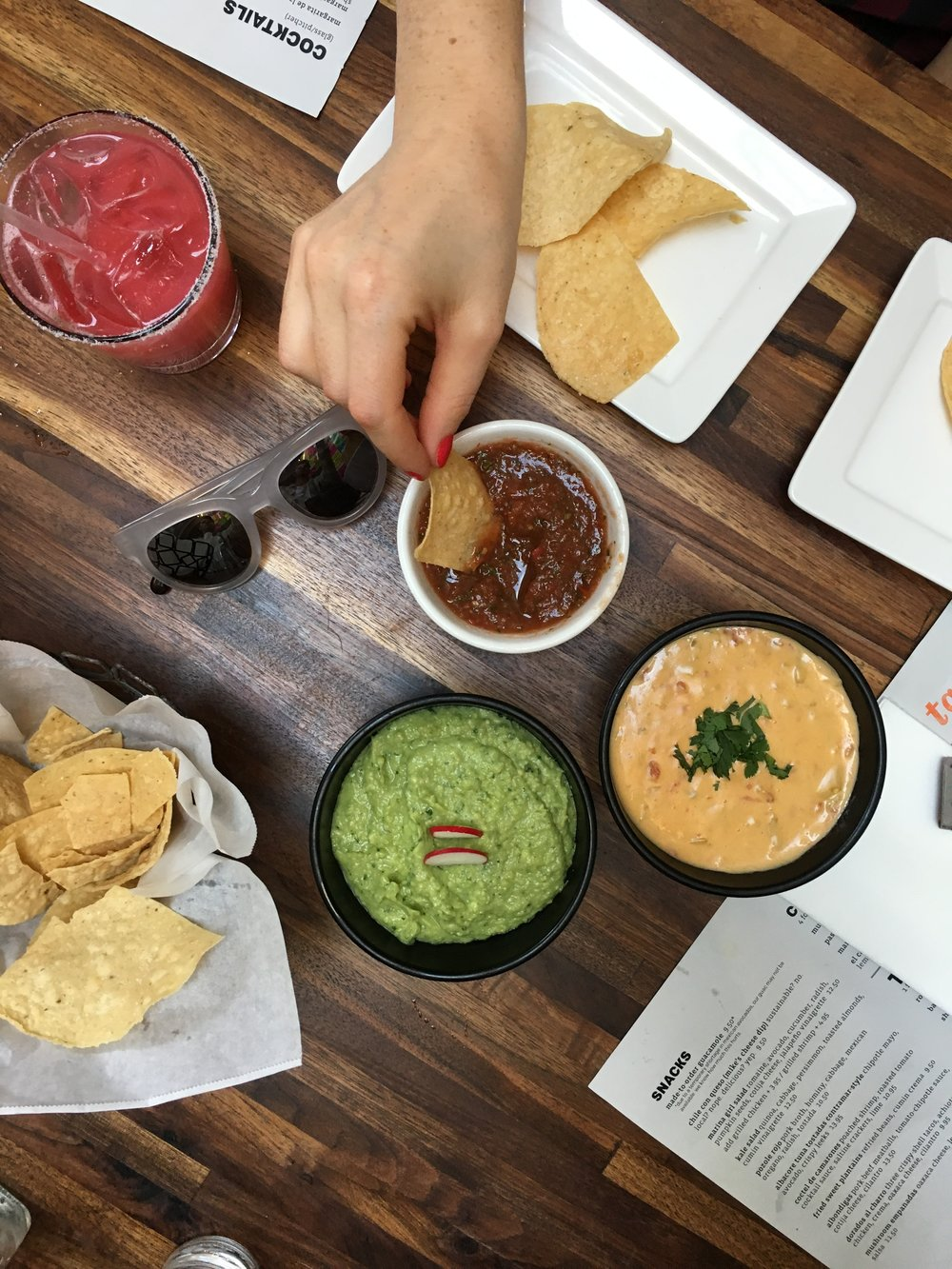 These dips are amazing at Tacolicious.