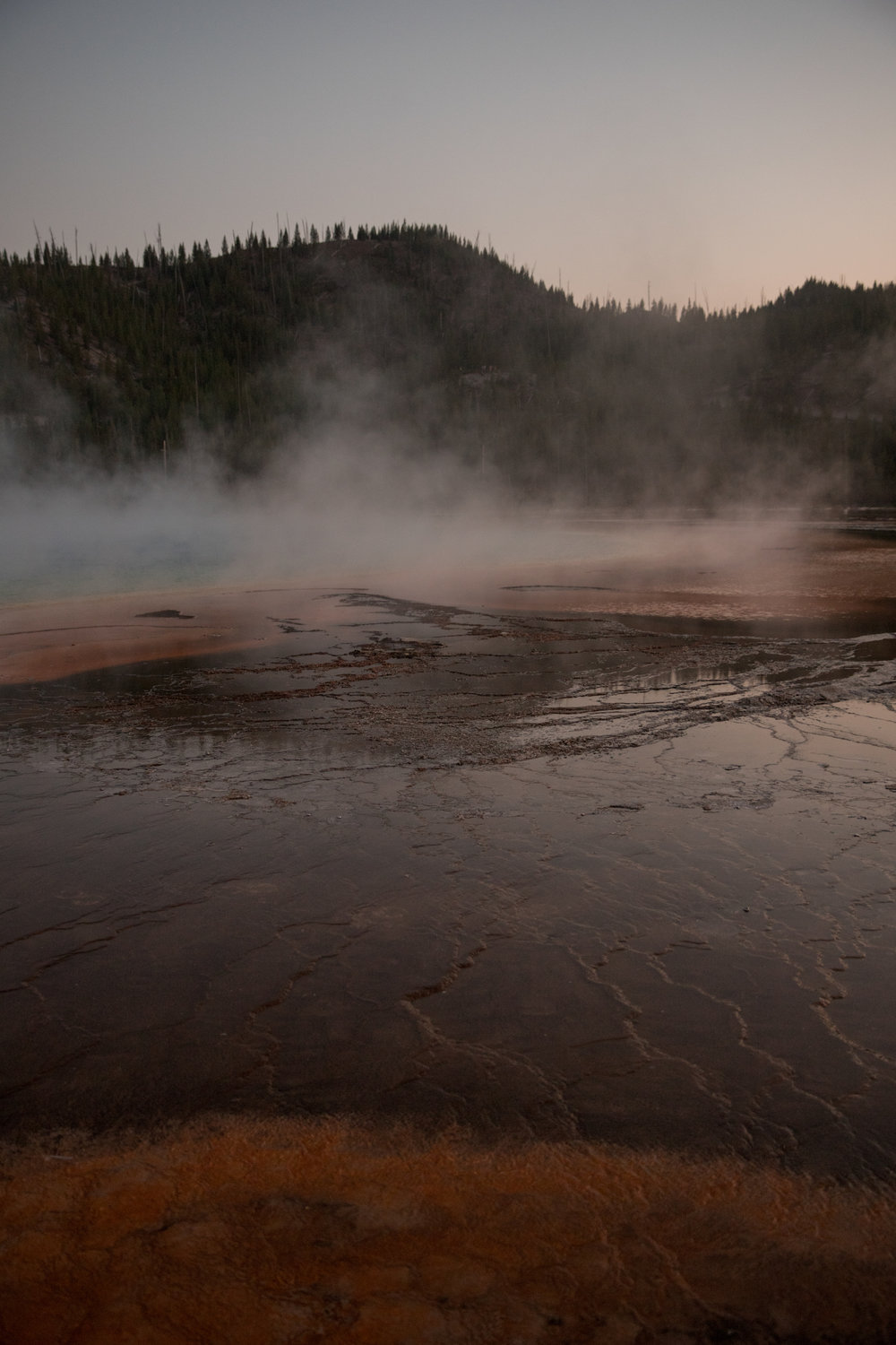 Grand Prismatic Springs in Yellowstone.