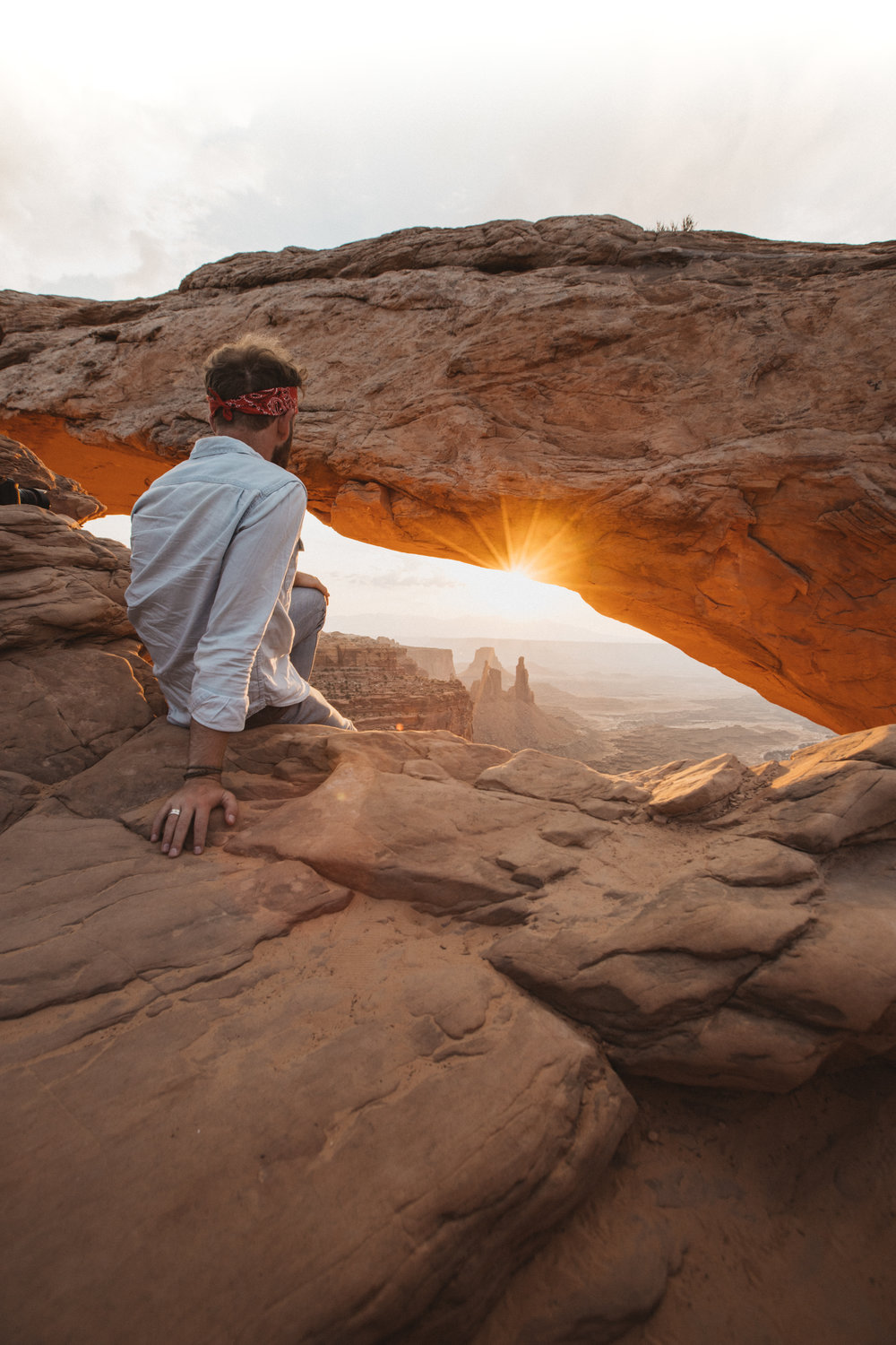 Sunrise at Mesa Arch.