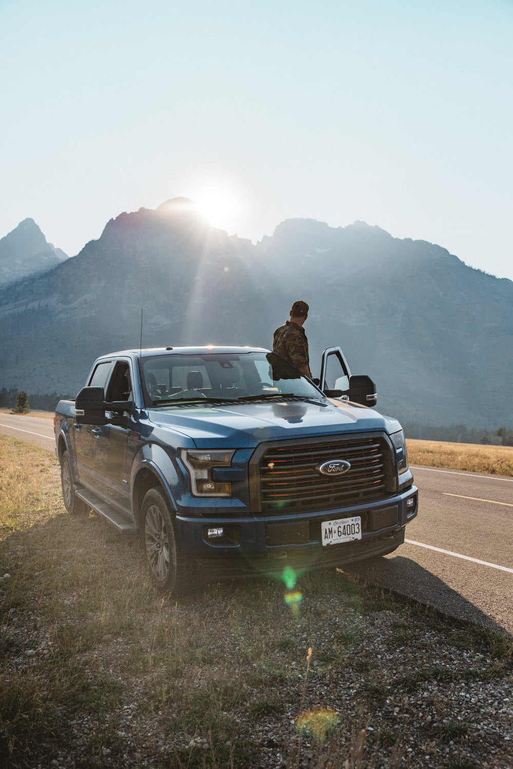 The Ford F 150 in the Grand Tetons.