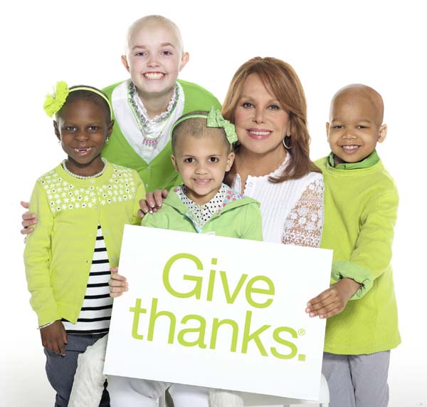 Marlo Thomas and St. Jude kids Give Thanks.jpg
