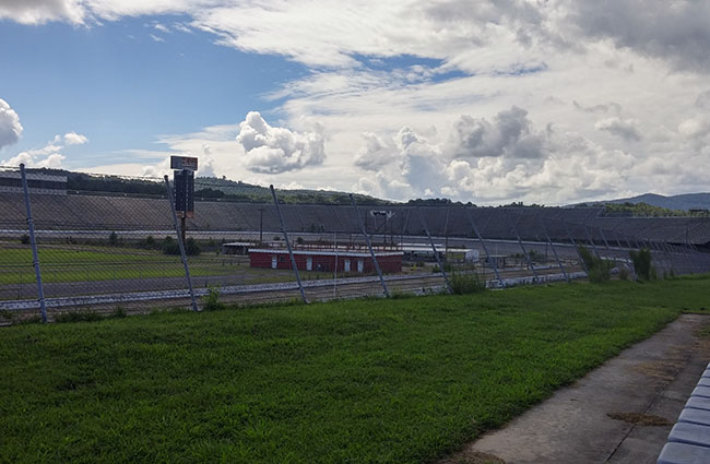 The infield at North Wilkesboro Speedway today.