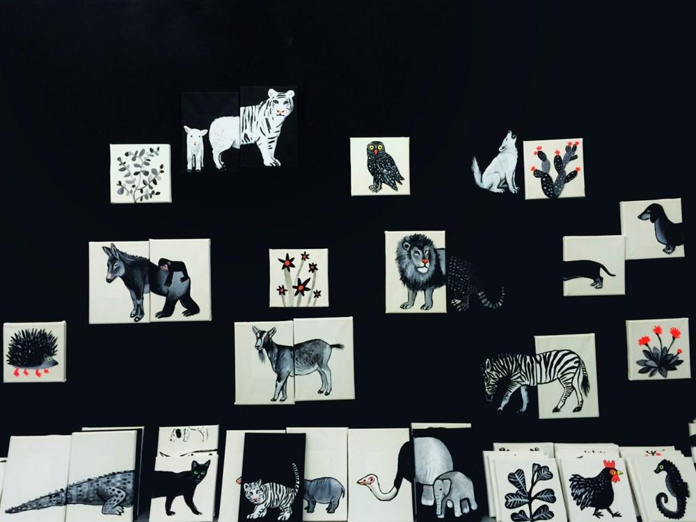 Animalísimos expuestos en la galería Mad is Mad en Madrid.