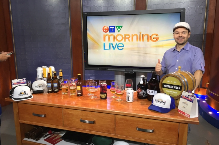 Me setting up for a segment on CTV Morning Live, Canada's 2nd most-watched news network