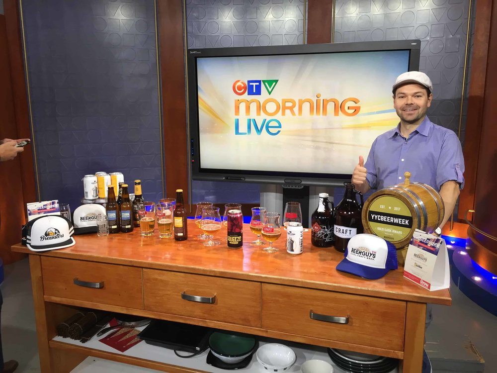 Me setting up for a segment on  CTV Morning Live , Canada's 2nd most-watched news network