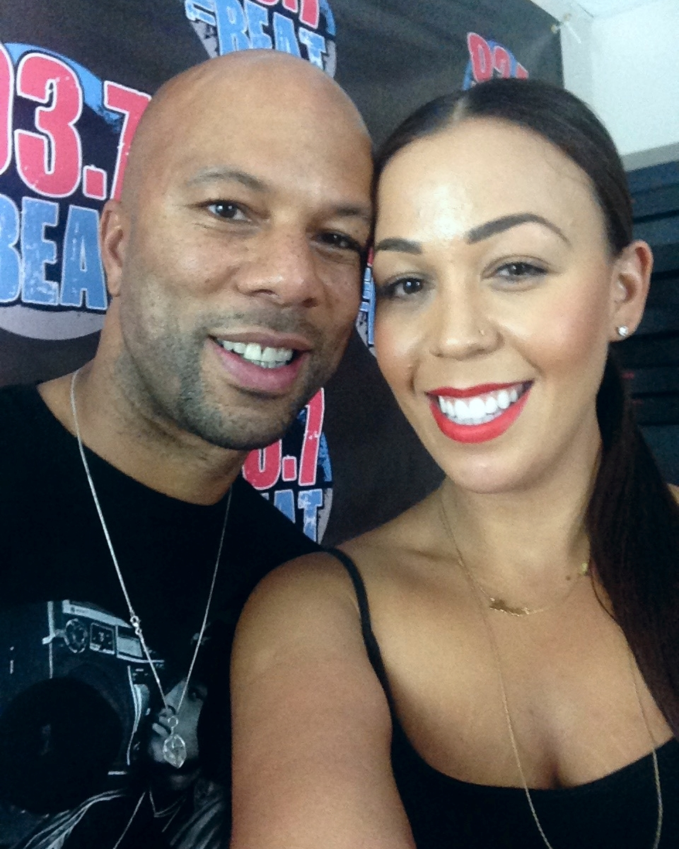 Common x Devi at 93.7 The Beat Studios
