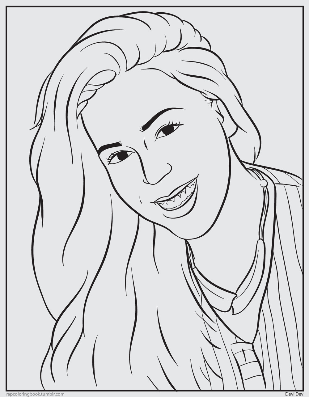 color me devi u0027s rap coloring book page u2014 devi brown