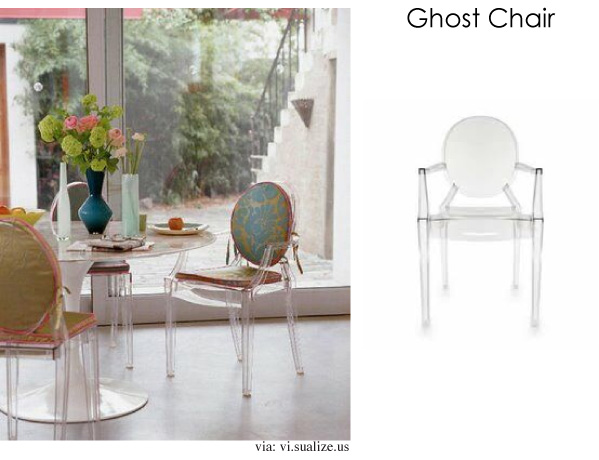 The Louis Ghost chair designed by Philippe Starck