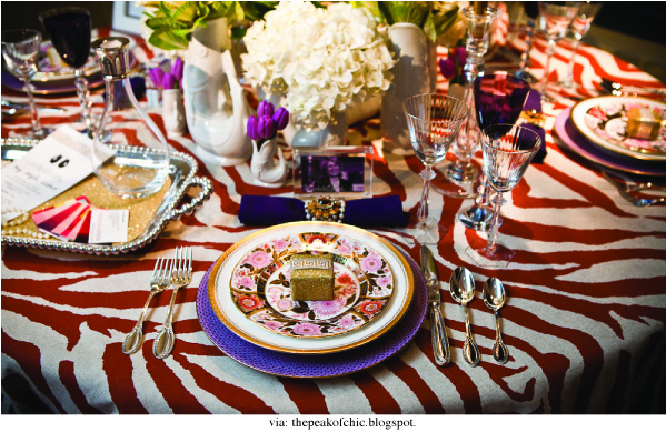 chic luxury table settings