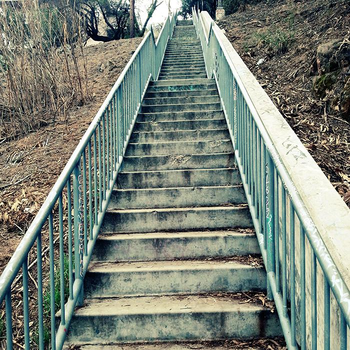 The Avalon Stairway in Echo Park, Walk #14 in Secret Stairs book