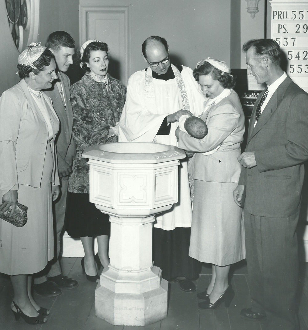The Rev. Ken Morris celebrating a baptism at St. Stephen's in the 1950s.