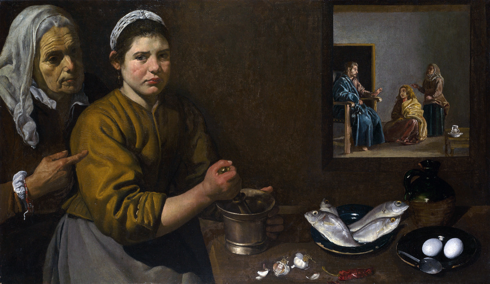 Jesus at the home of Martha and Mary by Velázquez