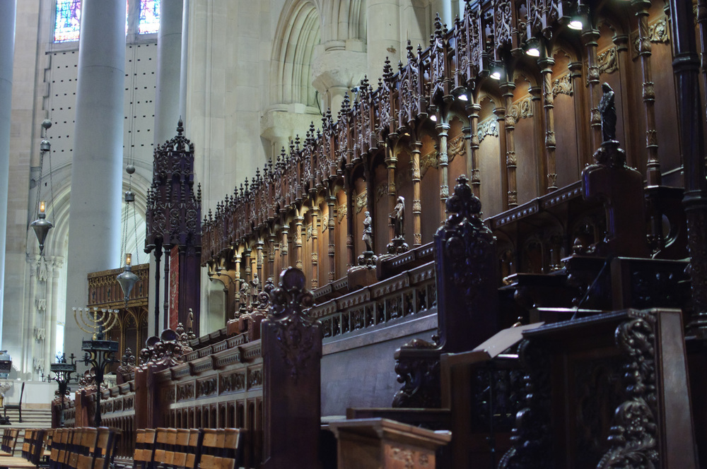 The Choir of the Cathedral of St. John the Divine in New York