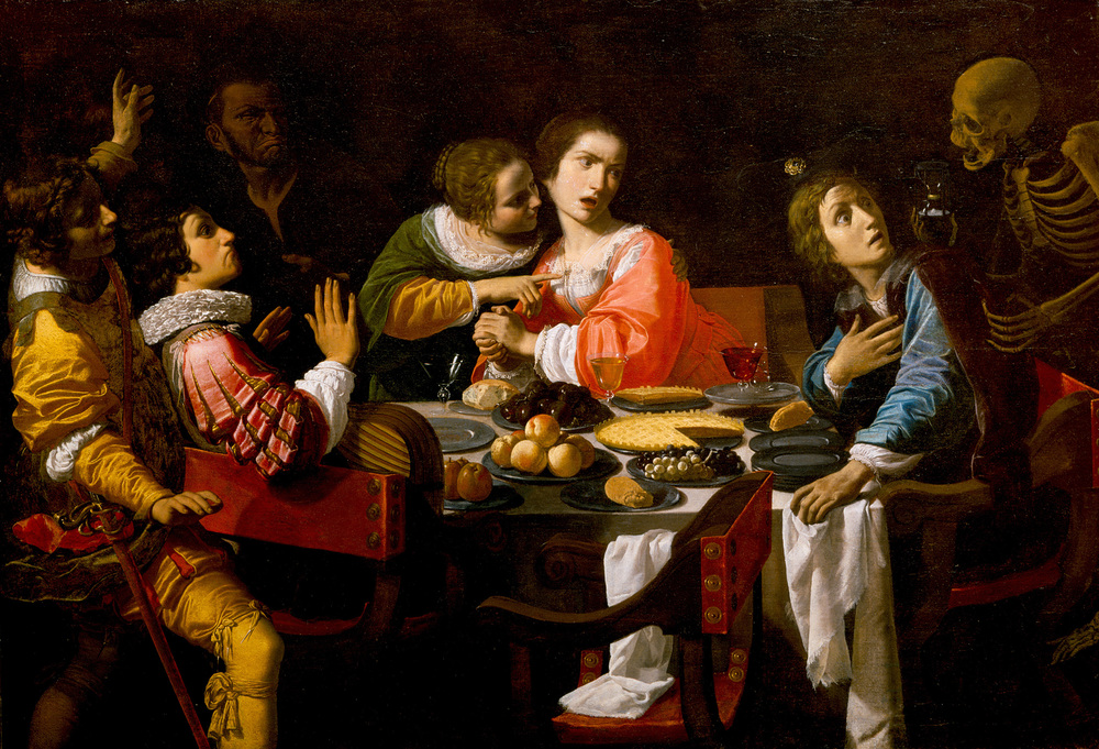 Death Comes to the Banquet Table by Giovanni Martinelli