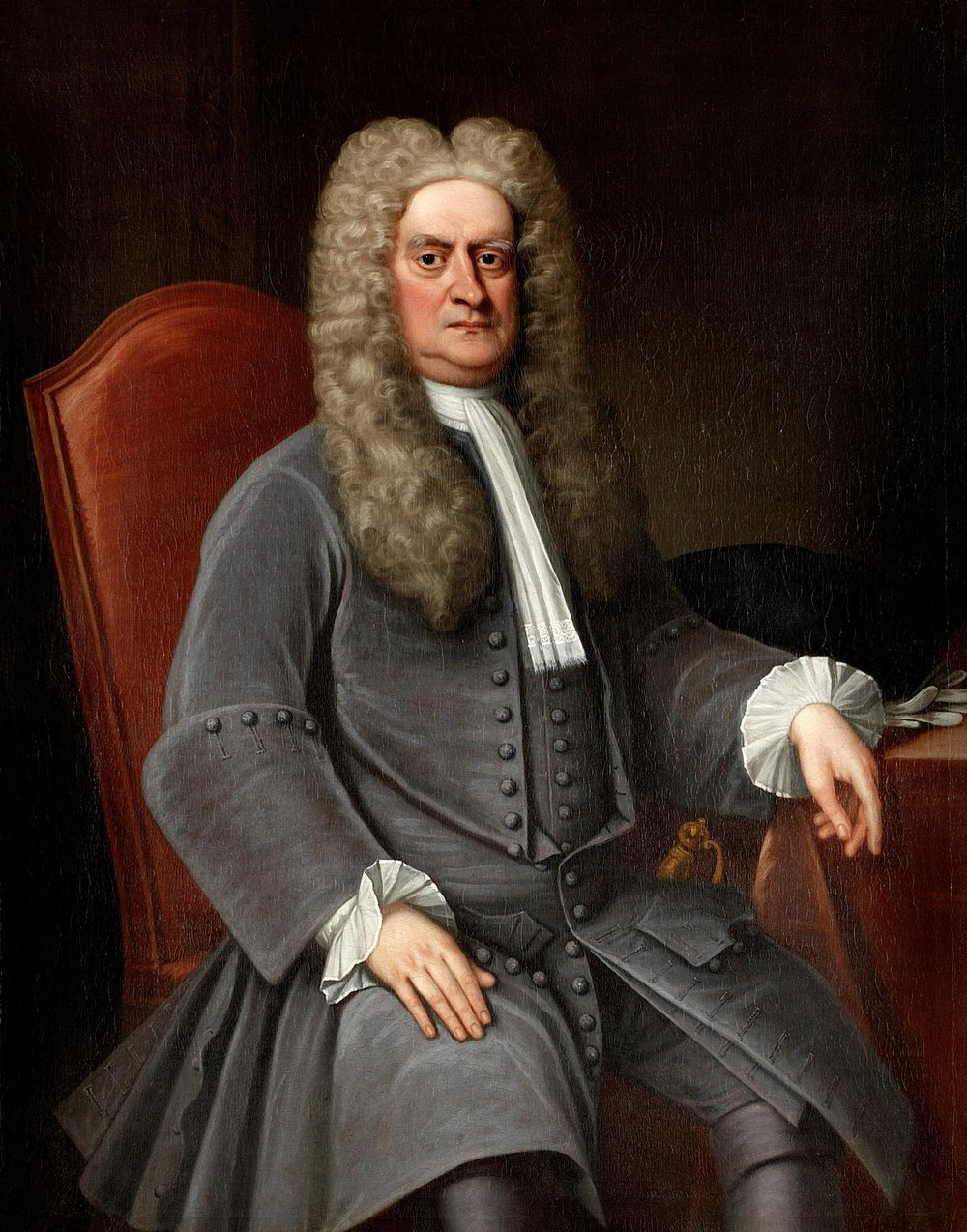 Sir Isaac Newton, painted by a member of the English School around 1715