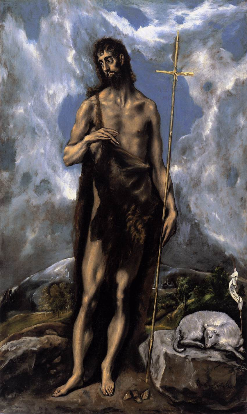 St. John the Baptist by El Greco.