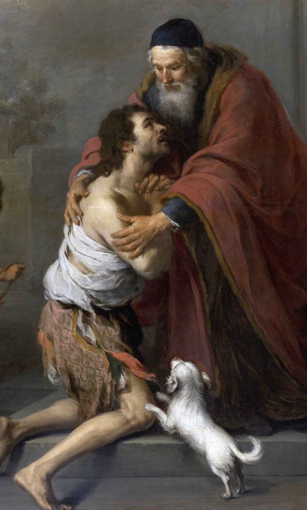A detail from 'The Return of the Prodigal Son' by Bartolomé Esteban Murillo (1617–1682)
