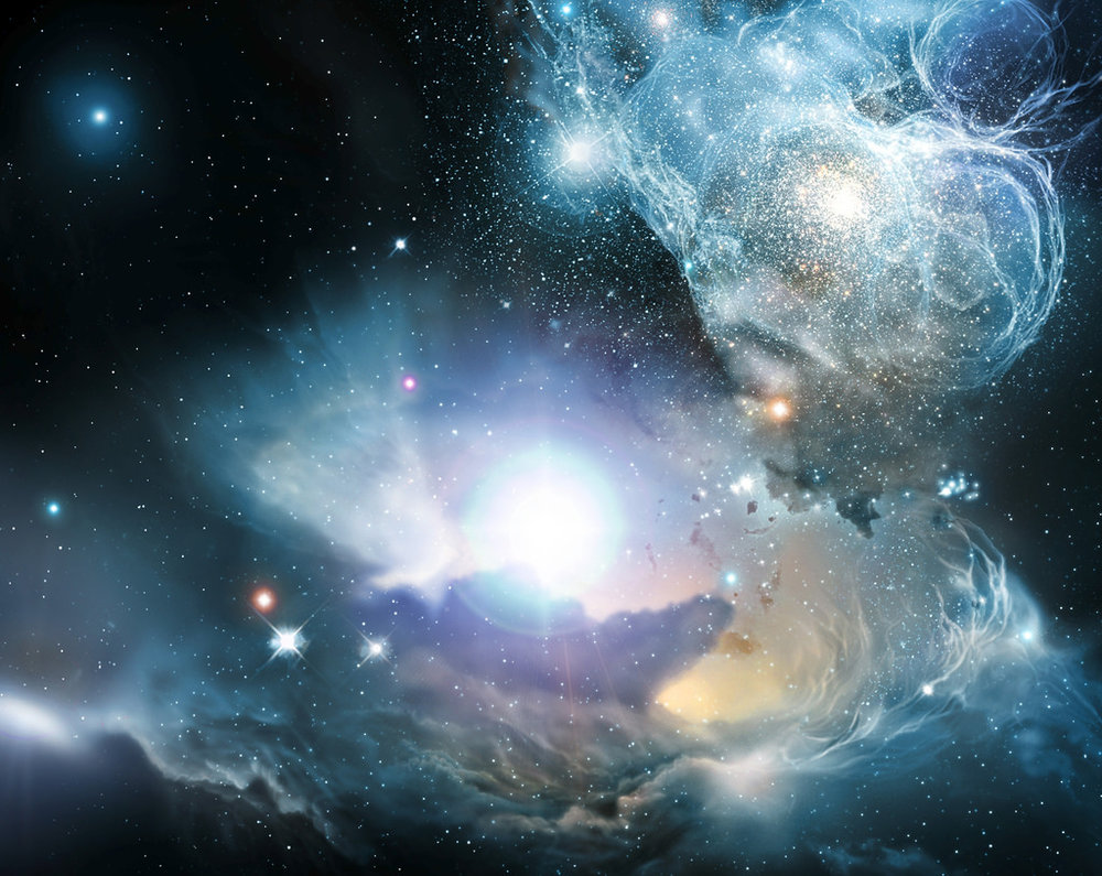 An artist's impression of interstellar space