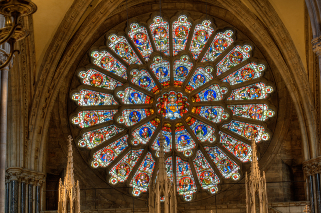 The rose window of Durham Cathedral