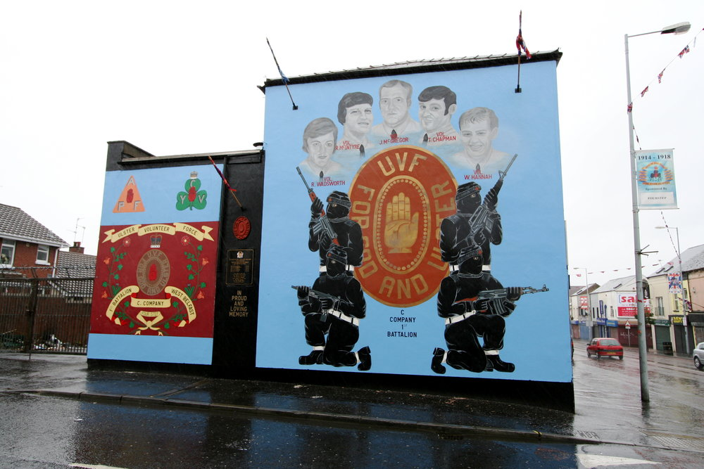 A sectarian mural, Northern Ireland
