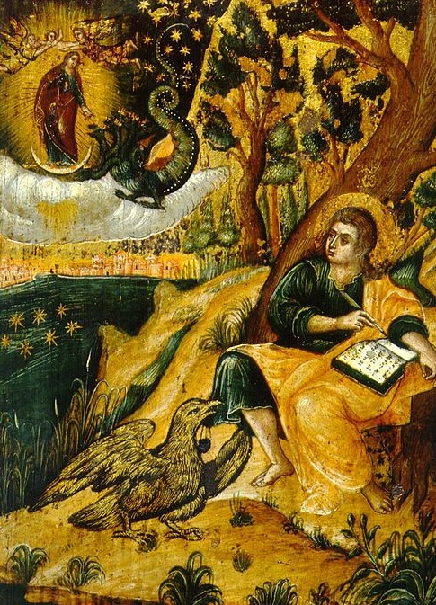 A Byzantine representation of St. John writing down his visions.