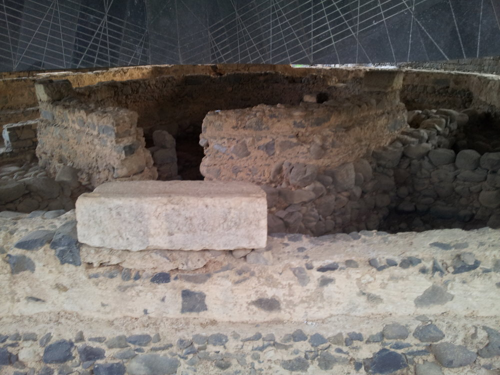 The excavated site in Capernaum believed to be the house of Simon and Andrew.