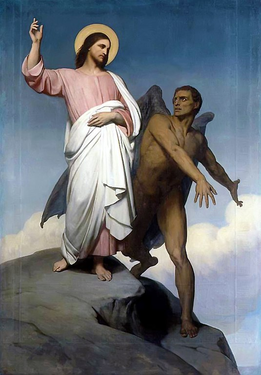 'The Temptation of Christ' by Ary Scheff