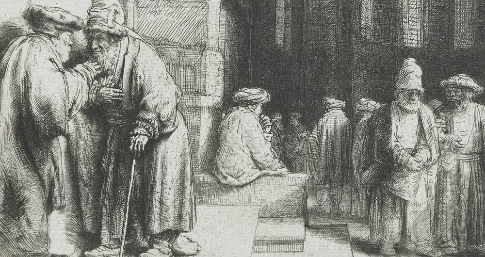 'Pharisees in the Temple' by Rembrandt Van Rijn