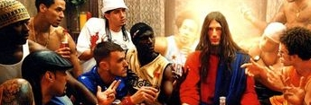 Part of David LaChapelle's 'Jesus is My Homeboy: Last Supper', 2003. Click to see the whole picture.