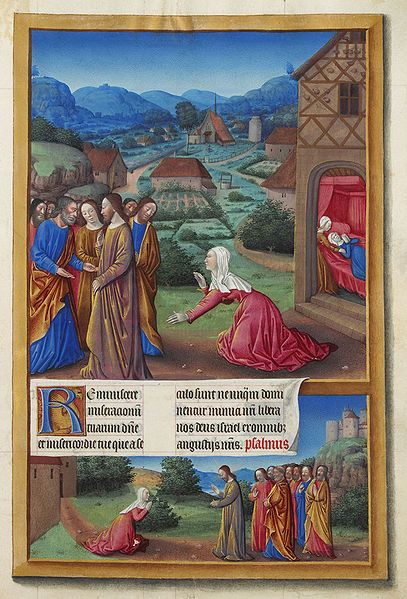 This gospel story illustrated in 'Les Très Riches Heures du duc de Berry', A French medieval book of hours.