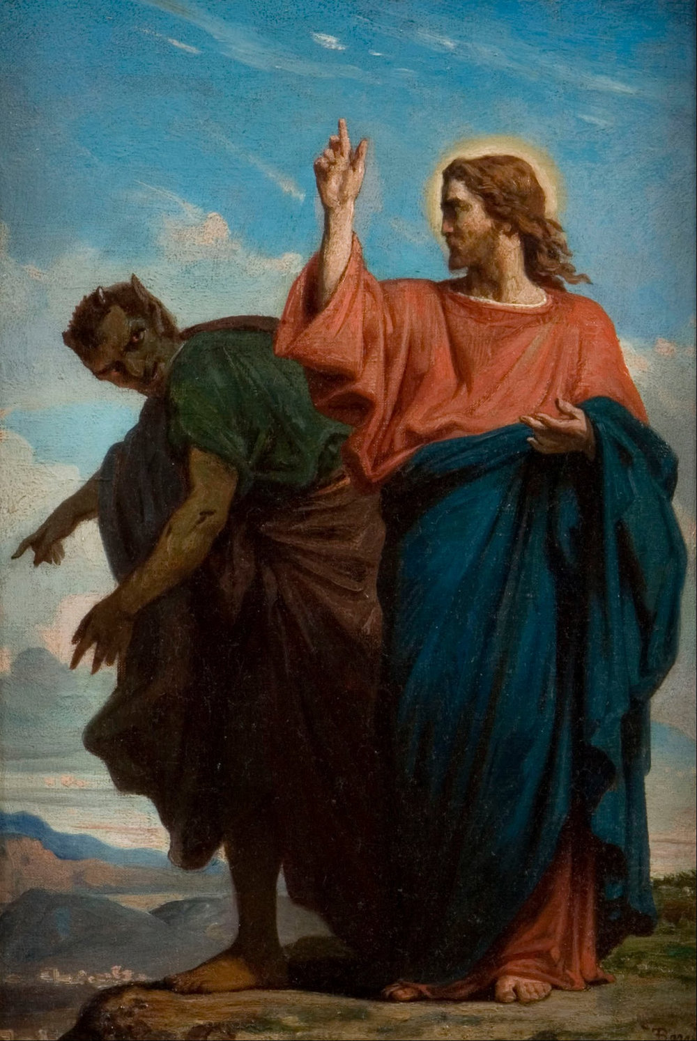 The Temptation of Christ by the Devil (1860) by Félix-Joseph Barrias