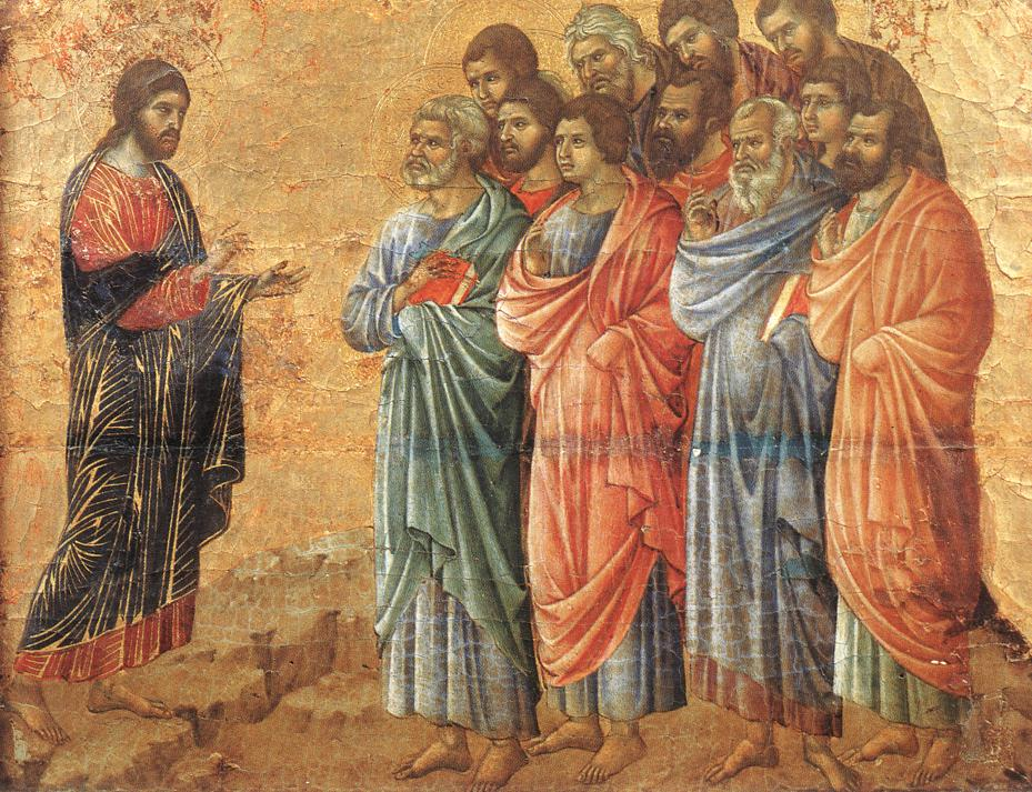 Duccio di Buoninsegna - Appearance on the Mountain in Galilee