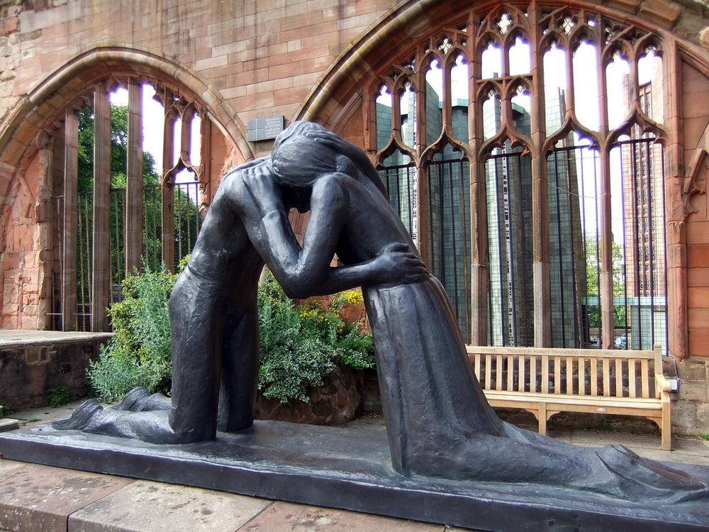 Reconciliation  by Josefina de Vasconcellos, at Coventry Cathedral, England