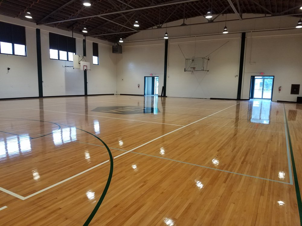The newly remodeled Gym