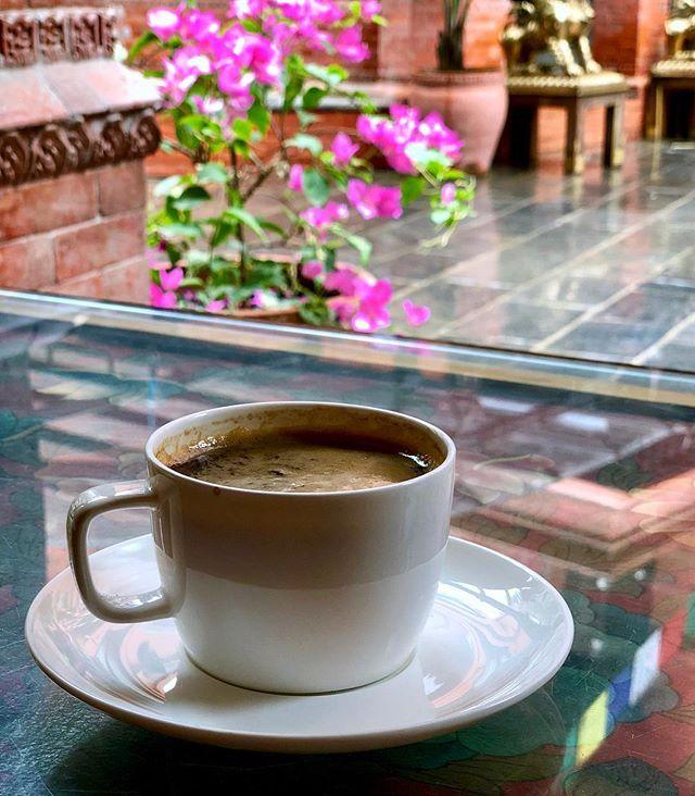 Nothing like a fine cup of Himalayan brew to start your rainy, monsoon day. ☕️🌧🇳🇵 Enjoying this delicious @lekali_coffee americano 😊 @dalai_la_boutique_hotel  #coffee #coffeetime☕️ #organic #fairtrade #nepal #kathmandu #tuesdayvibes . . . . . . . . . . . #picoftheday #travelgram #tuesday #tuesdaymorning  #sustainableliving #artisanship #femaleempowerment #women #womenandgirls #veganbeauty #ethicalfashion #fairtrade #veganhaircare #veganskincare #endslavery #crueltyfree #inspiration #ecofashion #fashionrevolution #sustainablefashion