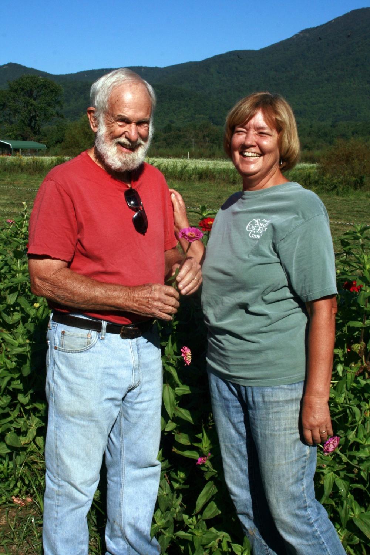 Bev & Keith on the farm
