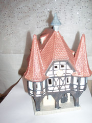 porcelain hand painted houses and building from Germany